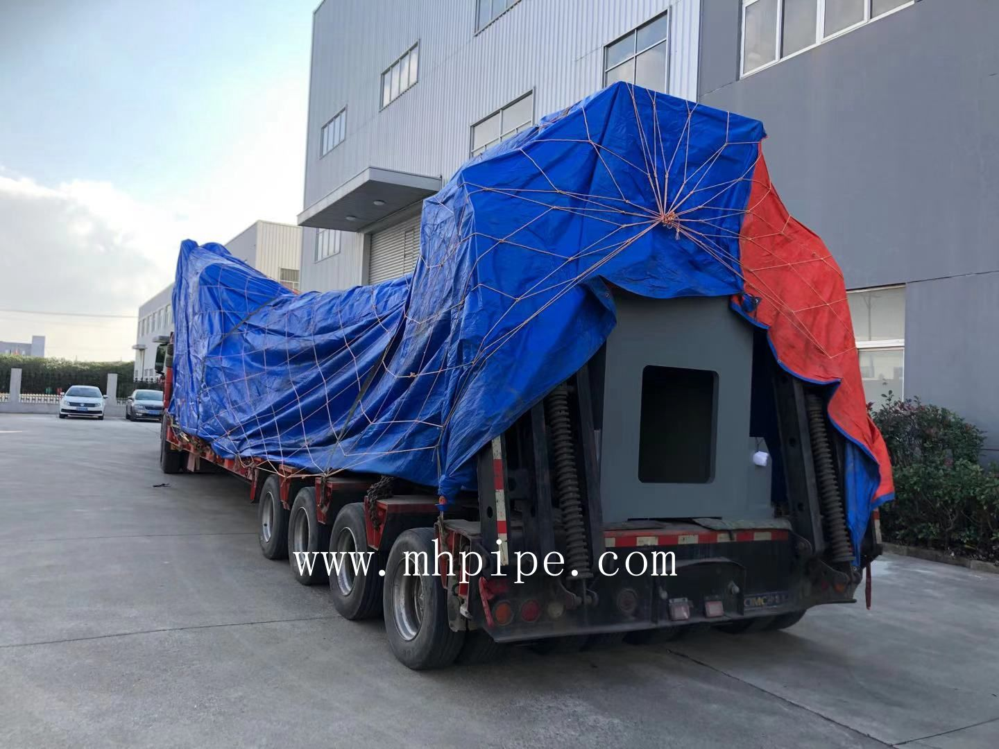 elbow cold forming machine on its way to Russia